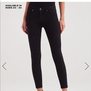 7 For All Mankind Black Ankle Super Skinny Jeans